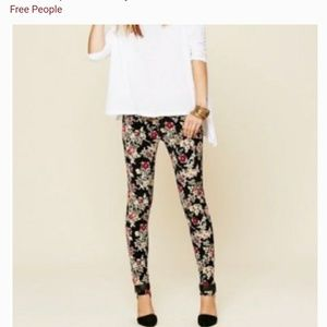 """Free people""""urban outfitters""""floral corduroy pants"""